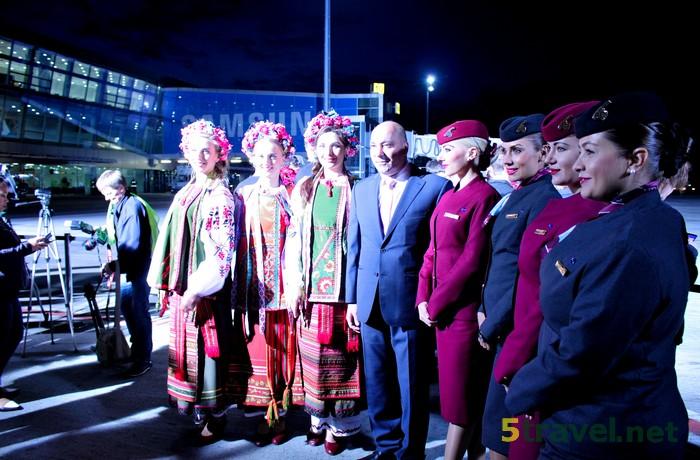 Новости туризма : Qatar Airways выполнила свой первый рейс в Украину