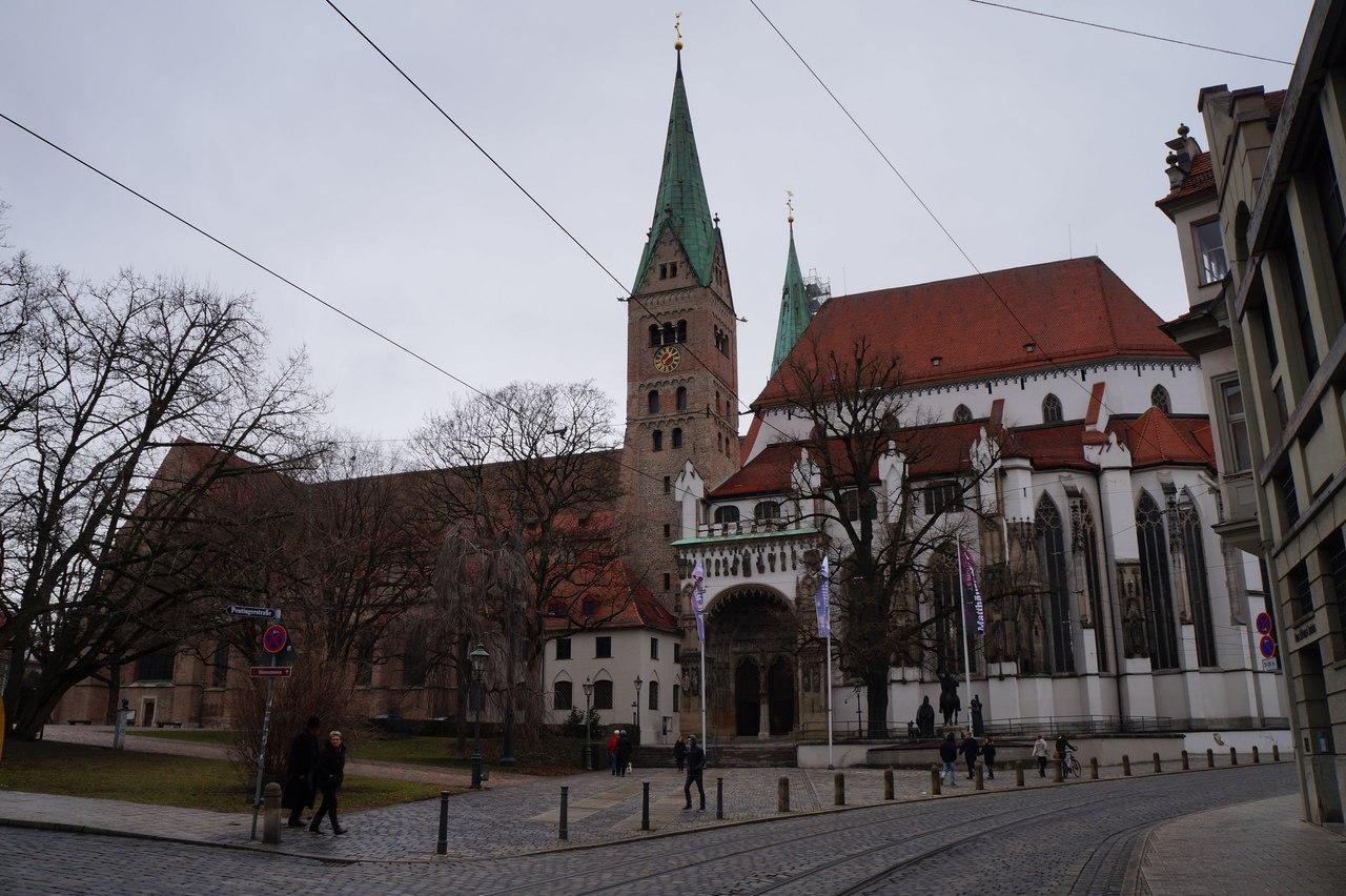 Европа : Аугсбург. Университетский городок в предгорье Альп